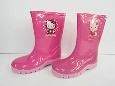GIRLS HELLO KITTY PINK WELLINGTONS 024021-06 (2 DESIGNS)
