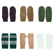 TOPSHOP GLOVES MITTENS HAND PALM WARMERS GLOVE KNITWEAR CABLE KNIT ANGORA BNWT