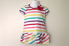 New Baby Girls BHS Striped Tunic Dress Age 3-6, 6-9, 12-18 Months *FREE P&P*