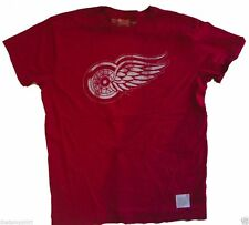 T-Shirts Original Retro Brand NHL Detroit Red Wings Vintage Style Mens T-Shirt