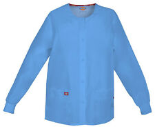 Scrubs Dickies EDS Snap Front Warm-Up Jacket 86306 Ceil CIWZ  FREE SHIPPING!