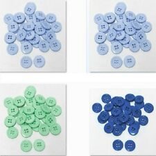 "30mm 1-1/4"" SZ 48 Plastic Coat Buttons BLUE 10-90 buttons Discount Retail"