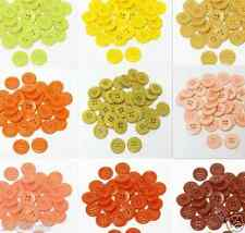 """23mm 7/8"""" sz 36 plastic coat buttons yellow to rust 10-90 buttons retail"""