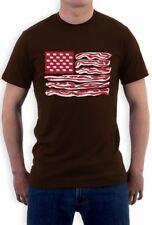 Bacon Flag Makes Everything Better T-Shirt Humor Eggs Strips Lovers USA