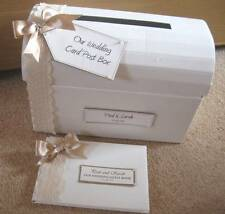 Luxury Vintage Themed Wedding Post Box / Guest Book / Set - Guipure Lace/Satin