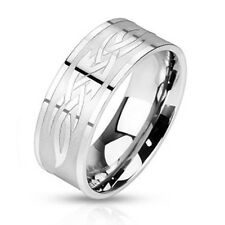 "Unisex Silver Ring ""tribal Symbol"" Stainless Steel New - Jewelry By Coolbody"
