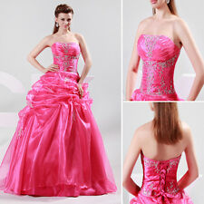 Gorgeous Strapless Long Quinceanera Party Gown Formal Prom Evening Pageant Dress