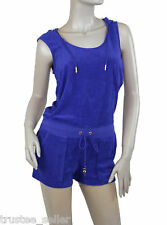 NWT Juicy Couture Micro Terry  Hoodie Sleeveless Jumpsuit Rompers Shorts Pink