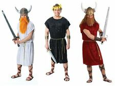 Adults Mens Viking King Red Black White Tunic Roman Solider Robe Greek Viking