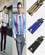 Fashion Cool Unisex Men Boy Girl Skinny Thin Slim Suspenders Adjustable Clip-on