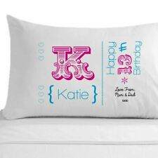 Personalised Girls 13th, 16th, 18th, 21st, 30th birthday pillowcase gifts