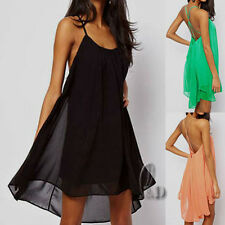 Sexy Backless Chiffon Cocktail Clubwear Beach Cover UP Dress AU SELLER dr067