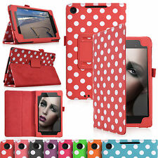Leather Polka Dot Stand Case Folio Cover For Asus Google Nexus 7 2 -2013 Version