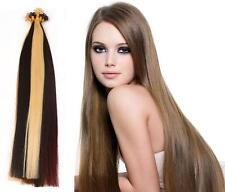 "16"" Indian Remy AAA Grade Double Drawn Nail Tip Human Hair Extensions x20 -0.90g"