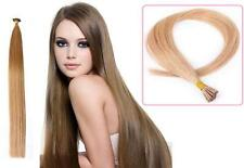 "16"" Indian Remy AAA Grade Double Drawn Stick Tip Human Hair Extensions x100 0.9g"