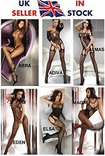 UK SELLER!  2 x Livco Corsetti Crotchless Bodystocking Bodysuit Catsuit One Size