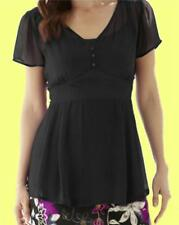 New Simply Be Ladies BUTTON DETAIL BLOUSE AND CAMI Black 12 14  UK