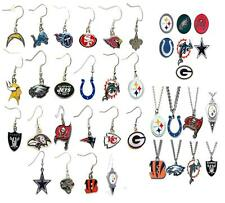 authentic NFL FOOTBALL earrings pairs necklace JEWELRY NEW various teams