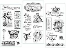 Graphic45 Hampton Art Botanical Tea Cling Stamps Collection Choose One:# 1, 2, 3