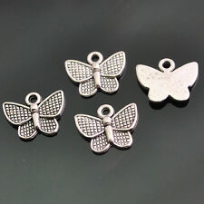 Upick 30/70/150pcs Cute Anti-silver Alloy Butterfly Pendants DIY 12x10mm DZ209