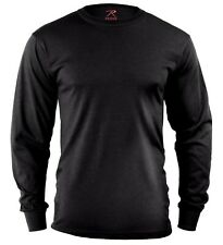 t-shirt black long sleeve cotton poly blend rothco 60212