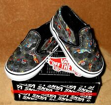 NEW VANS CLASSIC SLIP ON SHOE MONSTER TRUCKIN PEWTER/MULTI TODDLER 4.5T