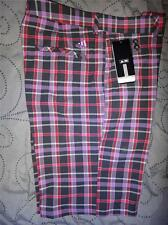 ADIDAS GOLF PLAID SHORTS SIZE W 36 34 32 30 MEN NWT $70.00