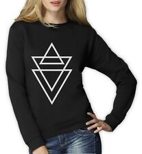 HIPSTER TRIANGLE PRINT Women Sweatshirt TUMBLER FASHION RELIGION SWAG WASTED