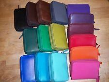 New in Box Ladies genuine leather credit card wallet NWT 16 colors available