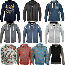 Mens Crosshatch Designer Fleece Zip Up Hoodie Sweatshirt Hooded Jumper Top