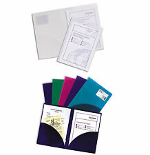 Pack 5 Snopake Plastic Twin File Presentation Carry Display Folder ID Card