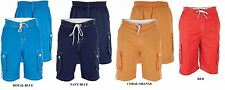 DUKE LONDON CARGO POCKET SWIMMING SHORTS (APOLLO) IN SIZE 1XL TO 6XL, 4 COLORS