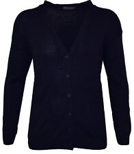 COTTON BLEND CLASSIC 6 BUTTON CARDIGAN IN NAVY IN SIZE 2XL TO 8XL