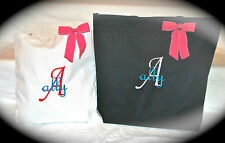 Monogrammed Personalized Tote Bag Beach Bridal Wedding Gifts Sold in 2 sizes