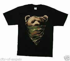 California State Republic Camouflage Bandana Bear Thug Life Men's Funny T Shirt