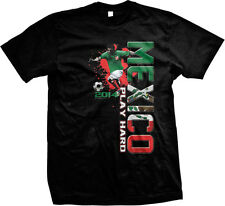 Mexico Play Hard World Cup 2014 Mexican Pride Soccer Player Futbol Mens T-Shirt
