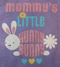 NEW Short Sleeve Lavender Hunny Bunny Easter Onesie NB 0-3 3-6 6-9 OR 12 Months