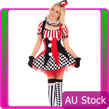 Sexy Circus Outift Cirque Clown Jester Fancy Dress Halloween Party Costume