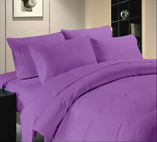 USA  600-800-1000ThreadCount LAVENDER  BEDDING SET 100% COTTON SOLID & STRIPE 03