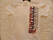 CLEVELAND INDIANS MAJESTIC  T SHIRT MAJESTIC WHITE SHIRT NEW WITH TAGS