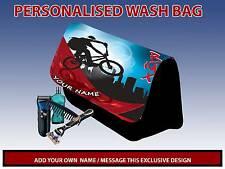 PERSONALISED BMX PENCIL CASE GAMES CARRIER DS TRAVEL BAG MENS DAD GIFT