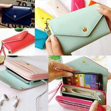 Multifunctional Envelope Wallet Purse APLE Phone Case for 9300 iPhone 5 5S 4 4S
