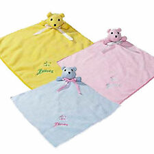 Zanies Snuggle Bear Puppy Dog Blankets Squeaker Cozy Soft Fleece 3 Pastel Colors