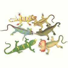 Stretchy Rubber Lizard - Bendy Stress Toy Filled with Scrunchy Polystyrene Balls