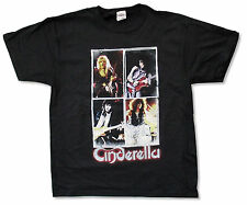 "CINDERELLA ""25 YEARS OF AMERICAN ROCK N ROLL"" BLACK T-SHIRT METAL BAND NEW"