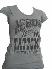 "NWT WOMENS IN GODS HANDS ""JESUS LOVES MY TATTOOS"" T-SHIRT 50% OFF"