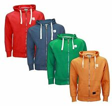 Mens Crosshatch Designer Hoody Poly Cotton Fleece Zipper Jacket Coat Top