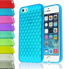 BUBBLE TPU GEL TRANSPARENT CLEAR SOFT CASE BACK COVER FOR APPLE IPHONE 5 5S