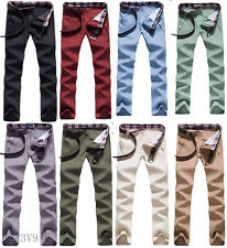 Korean Mens Casual fashion Wild Slim Fit Skinny Stretch Pencil Jeans Trousers