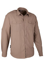 Travel Mens Long Sleeve Convertible Breathable Lightweight Walking Hiking Shirt